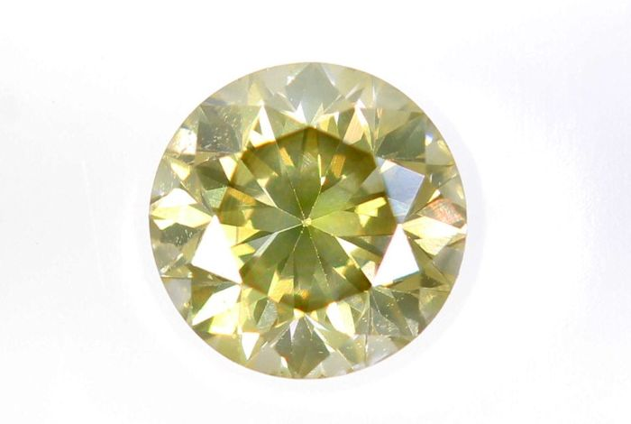 AIG Sealed Diamant - 0.34 ct - Fancy Light Yellowish Brown - SI1 - * NO RESERVE PRICE *