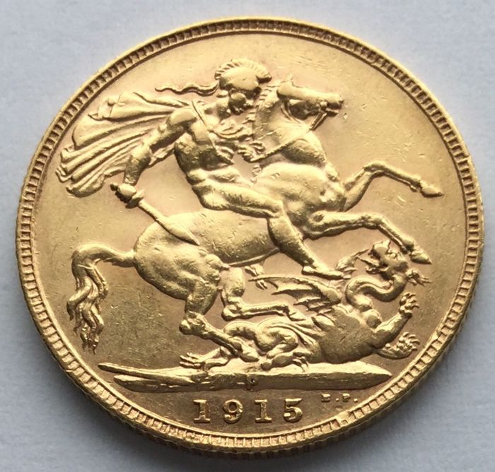 Australia - Sovereign 1915-P George V - Oro