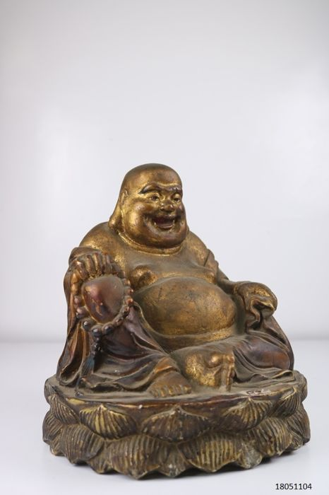 Happy Buddha - stone - China - late 20th century