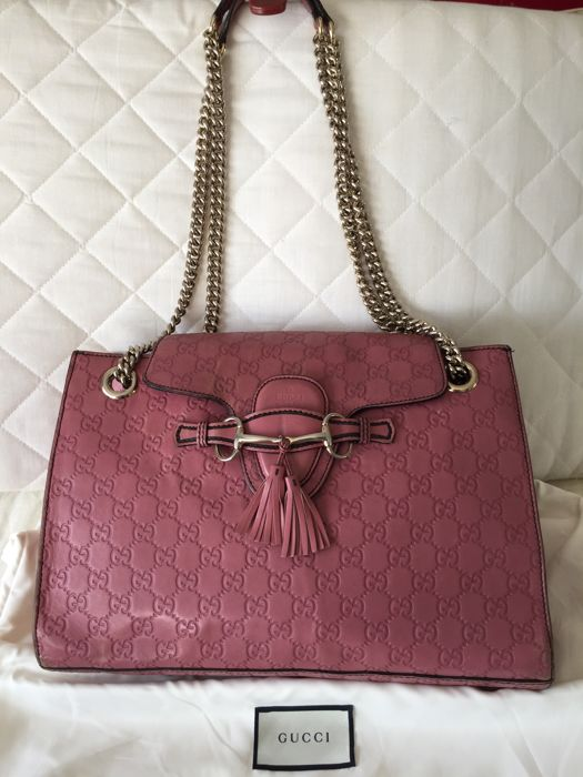 52c064fd6f16 Gucci - Emily Guccissima Pink Leather Large 2 Way Shoulder bag ...