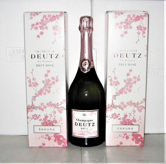 Champagne Deutz Rosé - 'Sakura' Limited Edition - Lot of 3 bottles (75 cl) in gift boxes