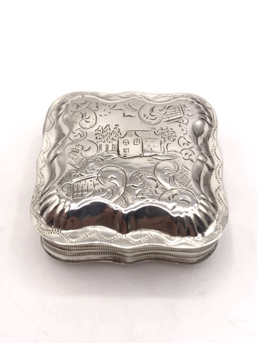 19th century Dutch silver Peppermint box - Dirk Hendrik Greup Sr. Schoonhoven 1857