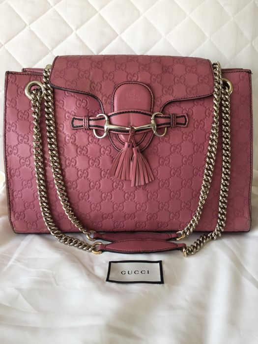 Gucci - Emily Guccissima Pink Leather Large 2 Way Sac en bandoulière ... 3feda1c4f79e