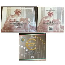 Italy 3 Divisional series, Euro 2012 - Proof and FDC (see description)