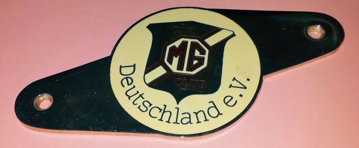 MG Car Club Deutschland e.V. - Geëmailleerde Grill Badge