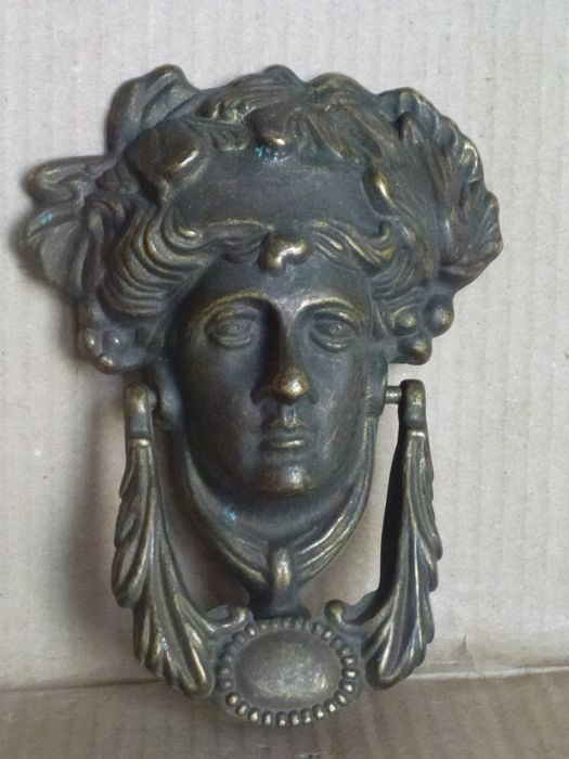 Antique door or gate knocker of the Art Nouveau period - early 1900s - Bronze - Italy