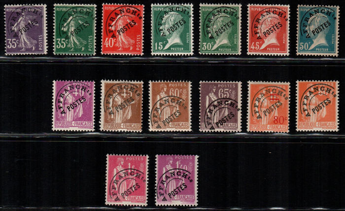 France, 1939/77 - Pre-cancelled stamps - Yvert nos. 39/68 - 70/77