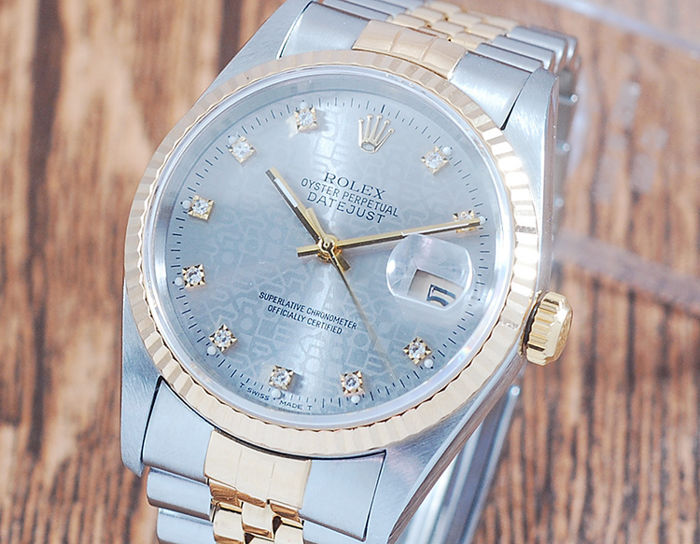 Rolex - Oyster Perpetual DateJust  - 16233G - Hombre - 1990-1999