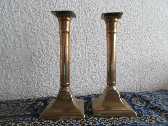 A pair of Empire brass candlesticks - France -19th century