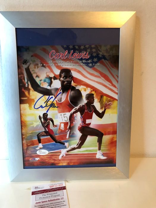 Carl Lewis Signed Team USA 8x10 Photo (JSA COA)