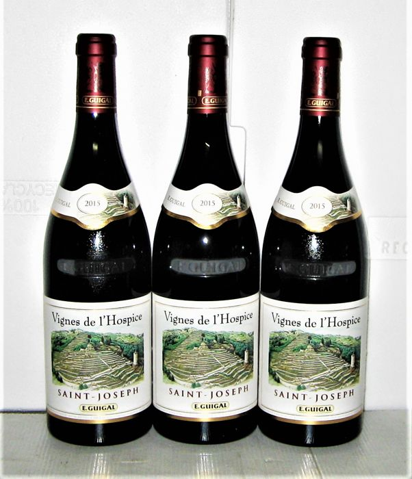 2015 Saint-Joseph 'Vignes de l'Hospice', Domaine E. Guigal – Lot of 3 bottles