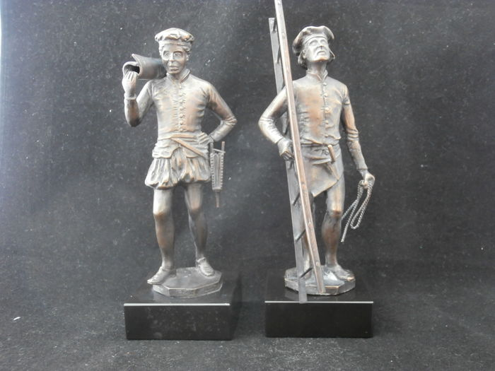 2 bronze sculptures. Jean Cuypers . 1890