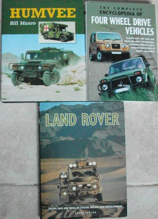 3 x 4 Wheel Drive Vehicles Books The Complete Encyclopedia of four Wheel Drive Vehicles/ Humvee/Land Rover