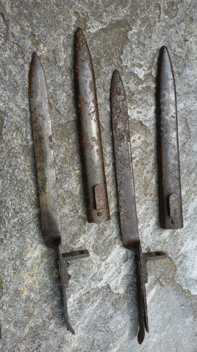 Austrian Erzatz bayonets from an excavation