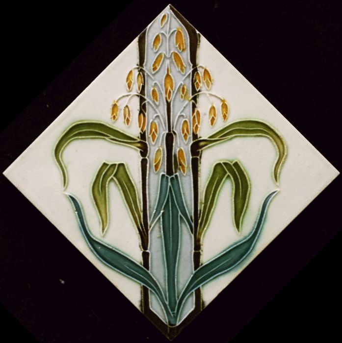 Gilliot & Cie Hemiksem - Art Nouveau tile with ears of grain