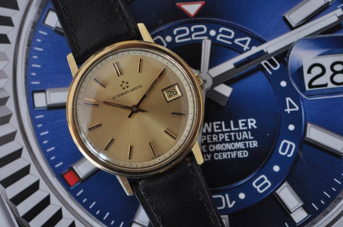 Eterna-Matic - Automatic Vintage Gold Plated. - 633.2065.25 - Heren - 1970-1979
