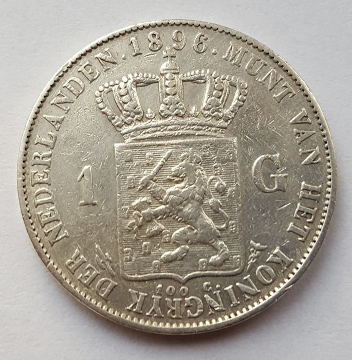 The Netherlands - Guilder 1896 Wilhelmina - silver