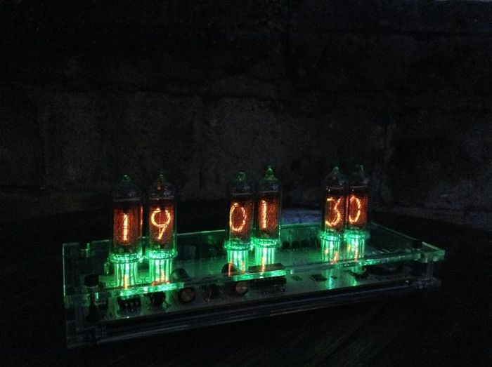 Beautiful Steampunk Nixie tube clock - completely handmade - unique piece!