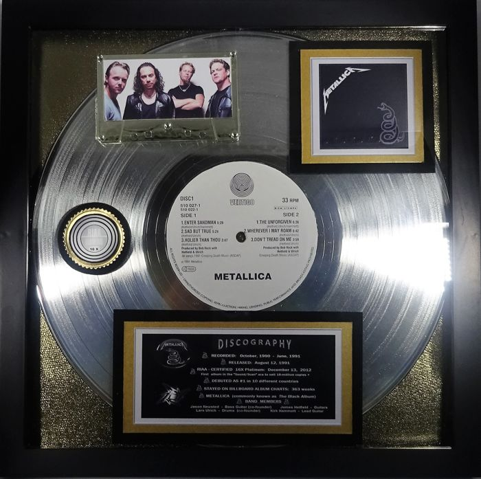 "Metallica ""BLACK ALBUM"" Platinum Award 16X-Certified 2012 Authentic Award"