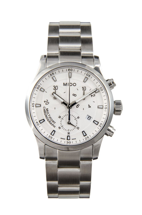 Mido - Multifort Chronograph Silver Dial Quartz Ladies  - M005.217.11.031.00 - Dames - 2011-heden