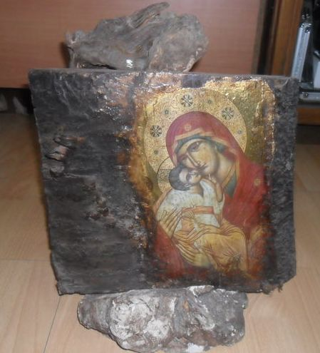 Byzantine icon, Mother of God Painted, 19th century Greece
