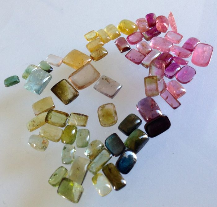 Lot of Cabochon cut Tourmalines   - 50ct  (62)