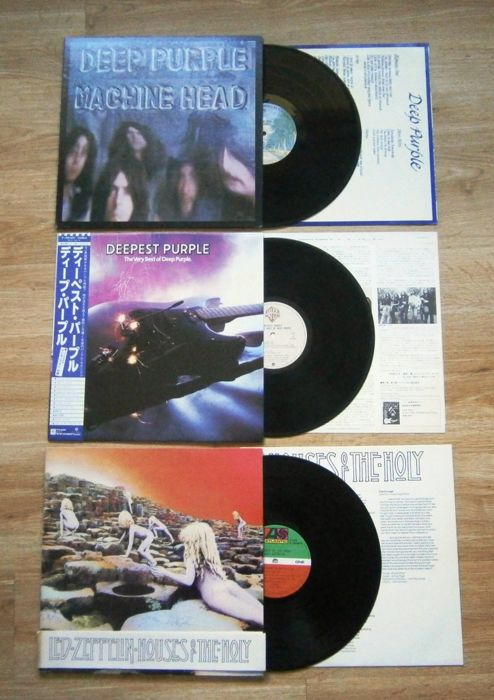 Three (3) Japanese Hardrock Pressings from the 70 ties; 2x Deep Purple and 1 Led Zeppelin