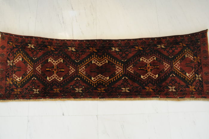 Turkmen bag face, antique, approx. 160 x 50 cm