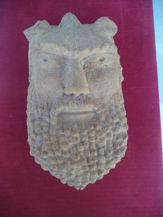 Sculpture mask in Etruscan style - 20th Century
