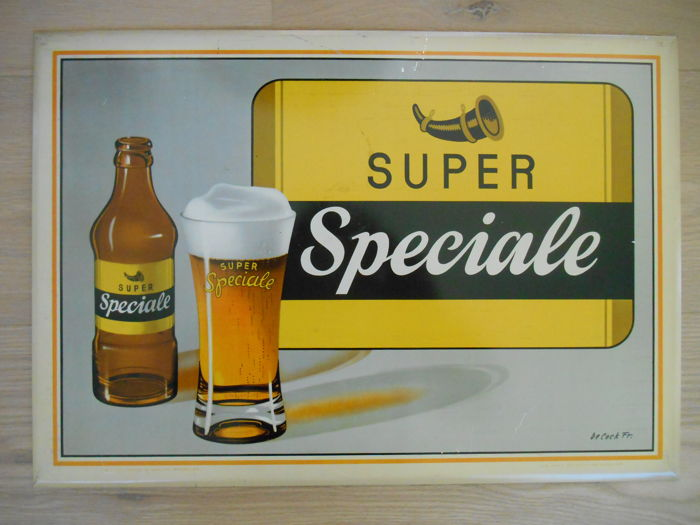 Rare metal sign of Super Speciale from 1957