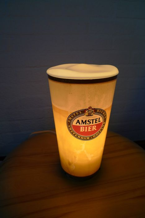 Amstel Lamp beer glass 1960s