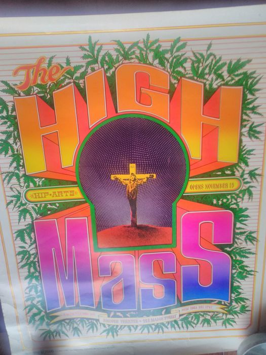 High Mass, 1967 poster, Bob Fried, signed