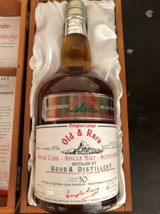Brora Old and Rare Single Malt Scotch Whisky 700ml Distilled 1976