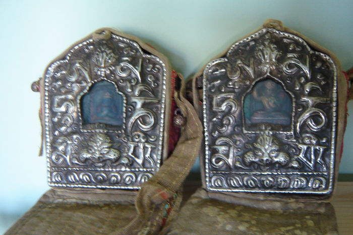 Two Tibetan Gau travel altars - Nepal - late 20th century