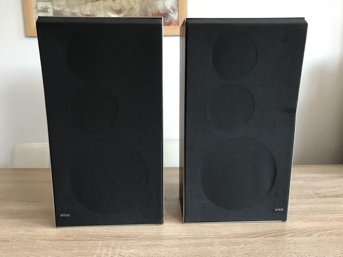 Two good Bang & Olufsen BeoVox S35 type 6311 speakers in the Rosewood edition