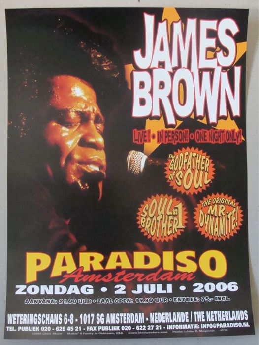 The Godfather of Soul James Brown  Paradiso Amsterdam 2006 by Chris Shaw