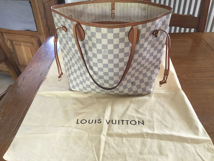 7742f9a6785 Louis Vuitton - Damier Azur Neverfull MM Tote bag - Catawiki