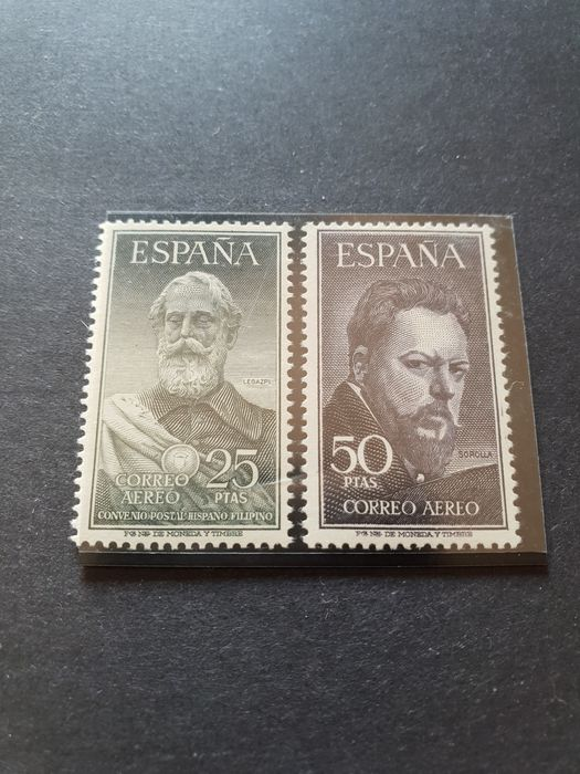 Spain 1953 - Legazpi and Sorolla - Edifil 1,124/1,125