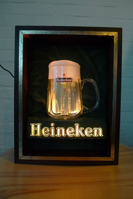Heineken beer mug bubble lamp 1970s