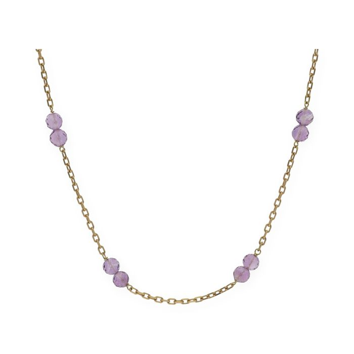 18 kt. Gold - Necklace Amethyst - Amethyst