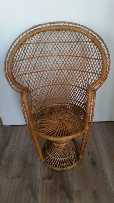 Manufacturer unknown - vintage peacock's chair