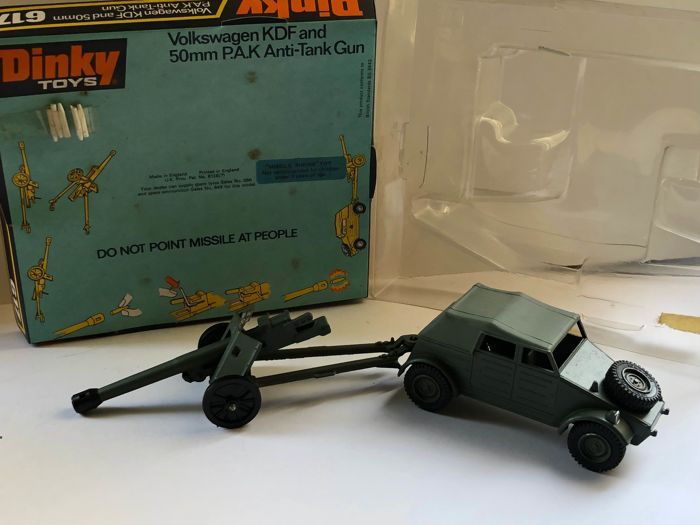 German 50 Mm Anti Tank Gun: Dinky Toys 617 Volkswagen VW KDF Kübelwagen & 50 Mm PAK