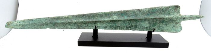 Rare Ancient Greek Sword with Stand - 394 mm