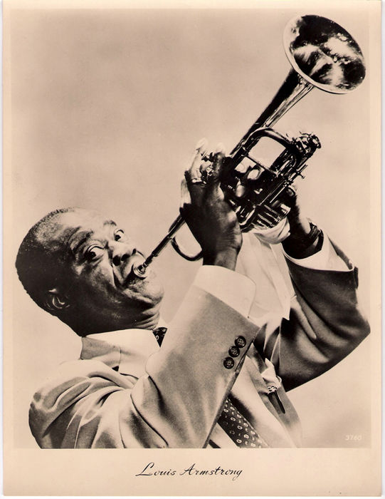 Louis Armstrong:  set of 14 vintage jazz photos Satchmo