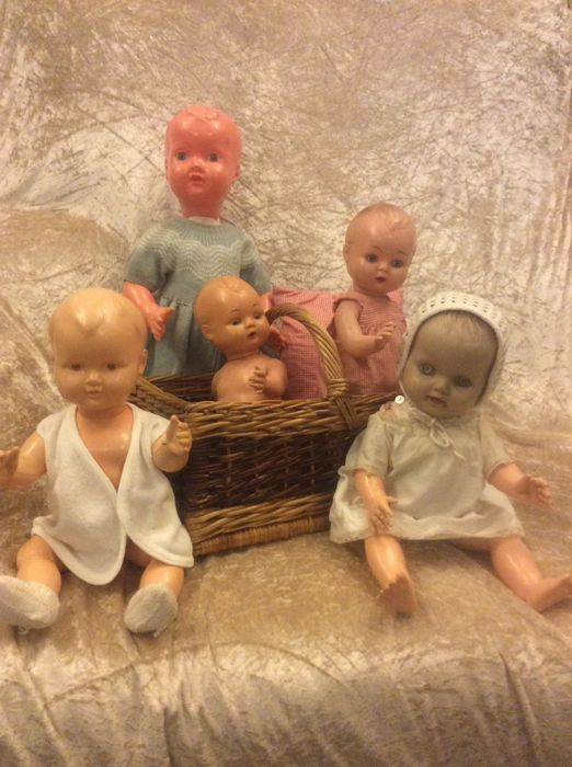 5 Baby Dolls From The Years 1950s 60s Catawiki