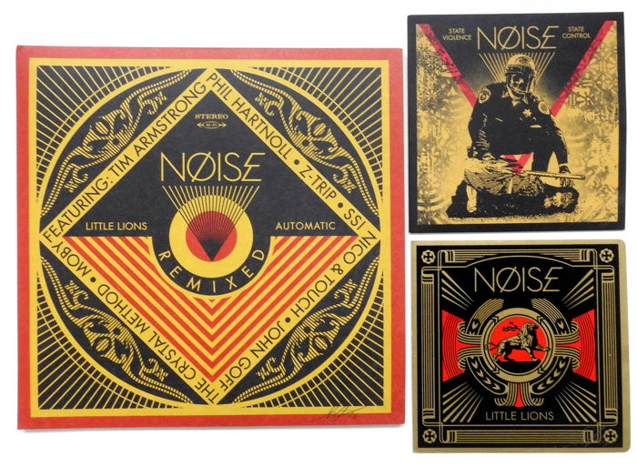 Shepard Fairey (OBEY) x NØISE -  Little Lions / State Violence State Control