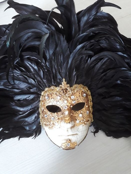 Decorative Large Venetian Mask With Real Plumage Catawiki