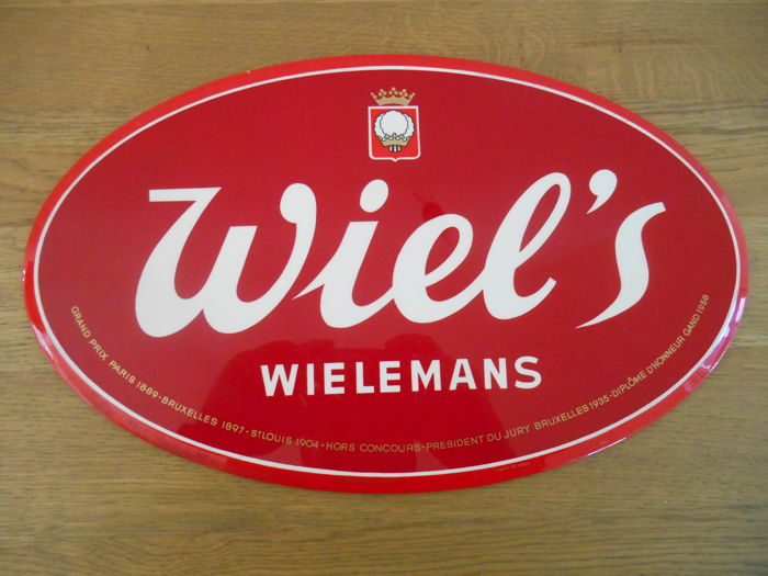 Metal advertising sign of Brewery Wielemans from 1961