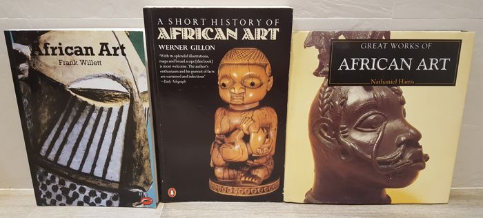 LOT of 3 book on African art (English): African Art: An Introduction, A Short History of African Art and Great Works of African Art