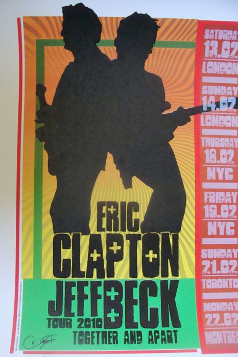 Jeff Beck / Eric Clapton Together & Apart Tour 2010 by Ron Donovan
